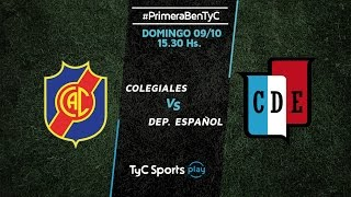 Colegiales vs Dep.Espanol full match