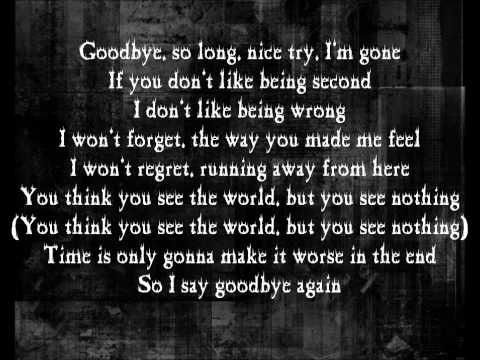 SR-71 - Goodbye With Lyrics