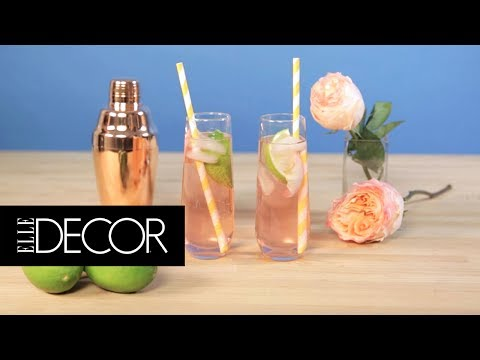 This Rose Gin and Tonic Recipe is Perfect for Summer | ELLE Décor
