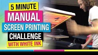 5 Хвилин Ручного Друкування Екрана Виклик Білими Чорнилами