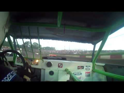 7.18.15---Peoria Speedway---Street Stock Feature---in car