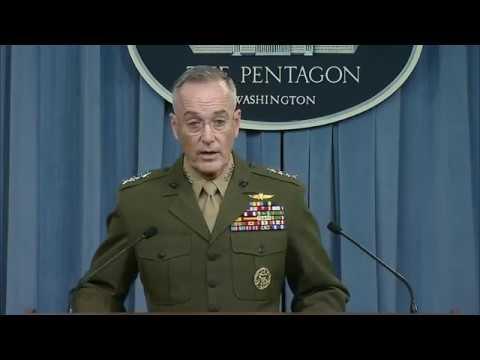 Dunford Holds News Briefing