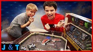 Battlebots Showdown! Minotaur Vs. Bronco Il / Jake and Ty