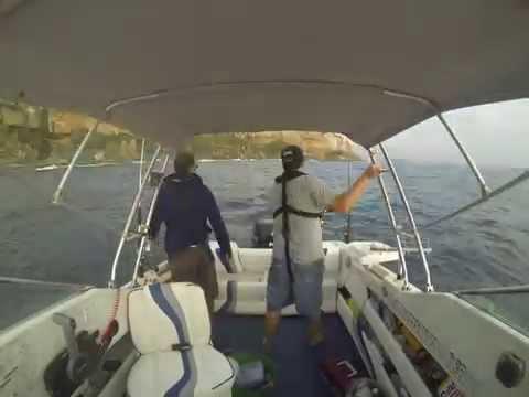 Fishing off Sydney Heads