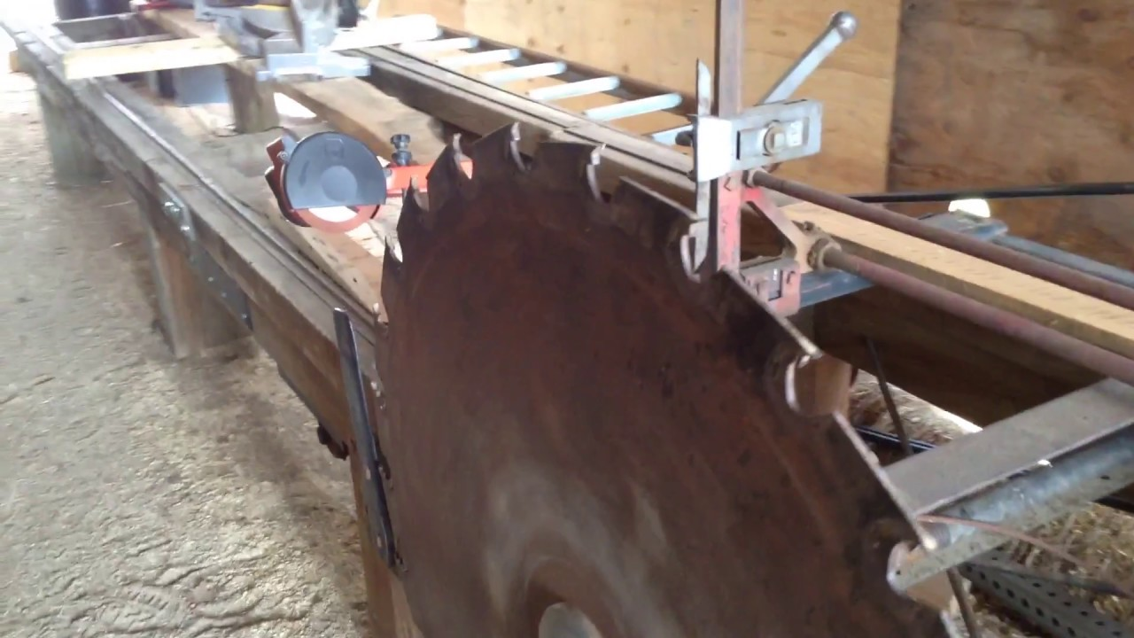 how to build a water powered sawmill
