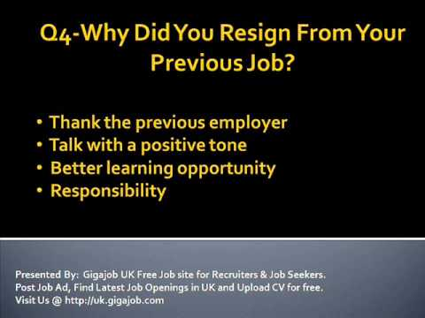 HR Round Job Interview Questions & Answers.wmv - YouTube