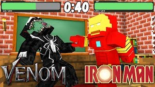 Monster School : IRON MAN vs VENOM EPIC BATTLE CHALLENGE - Minecraft Animation