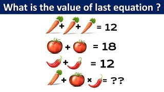Carrot Tomato and Chİli Equation Puzzle | Math Puzzle