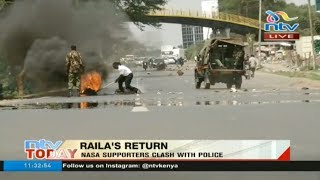 Nasa supporters clash with police along Mombasa road