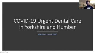Yorkshire and Humber COVID-19 UDC Overview 23/04/20