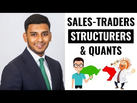 Sales-Trading, Structuring and Quant in an Investment Bank (