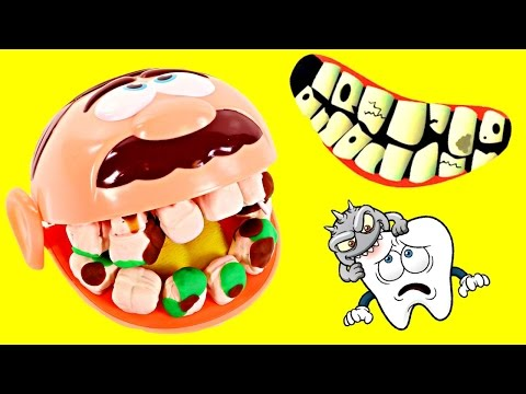 Thumbnail: Dentist Amy Jo Helps Doctor Drill n' Fill Play Doh Cavities - Gross Playdough Teeth
