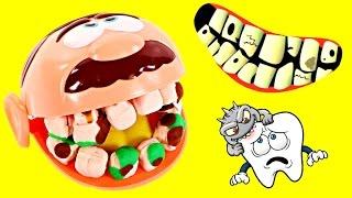 dentist amy jo helps doctor drill n fill play doh cavities gross playdough teeth