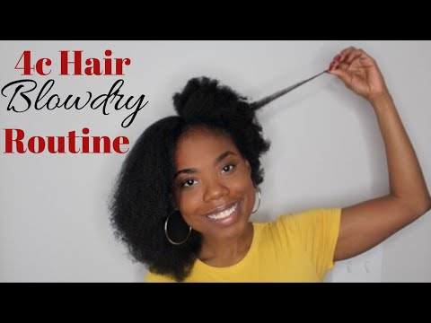 4C Hair FLUFFY Blowdry Routine | Vlogmas Day 5