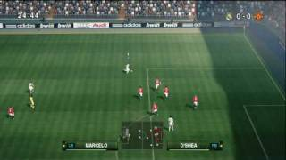 PES 2010 - Real Madrid vs Man Utd Highlights