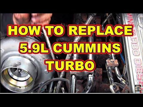 Turbo Replacement Dodge Ram 2500 Cummins Diesel 59l Replace Remove