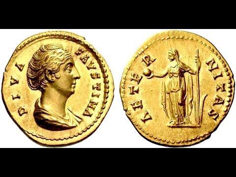 🔝Аурей, 147 - 161 гг., Монета Древнего Рима, Император АНТОНИН ПИЙ, 🌍 Aurey, 147 - 161 AD ✅