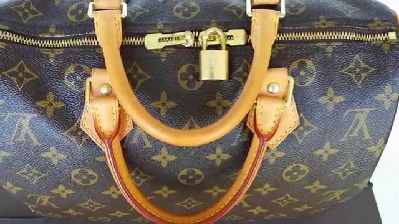 e7f97df4a998 AUTHENTIC Louis Vuitton Speedy 30 Monogram Bandouliere Handbag - Shoulder  Bag