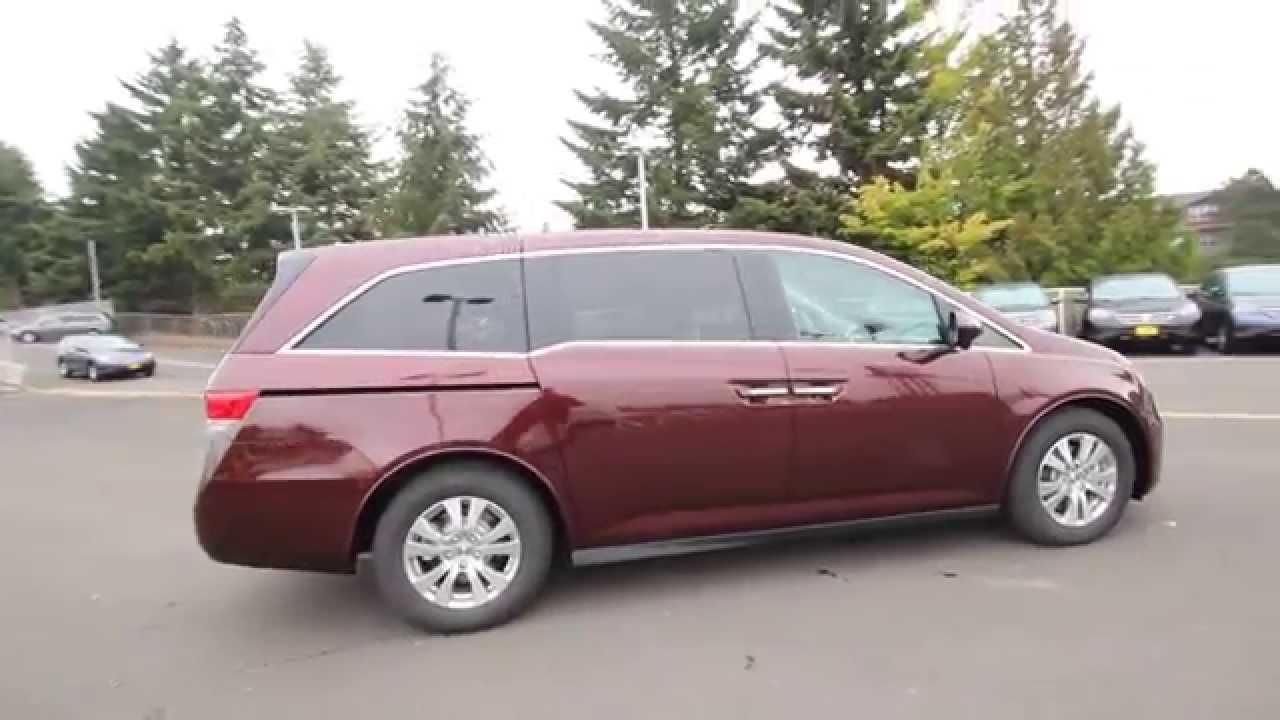 2017 Honda Odyssey Ex L Dark Cherry Fb016706 Seattle On