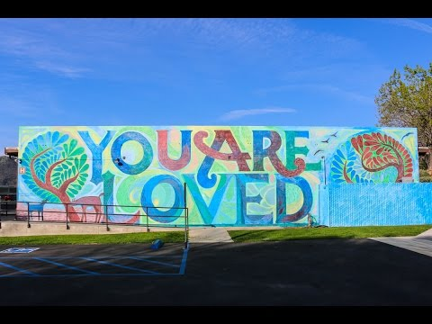 """Time-lapse of Berkeley Hall School's """"You Are Loved"""" Mural"""
