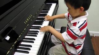 4 year old plays piano RCM Grade 8 Bach Invention No. 8 (BWV 779)