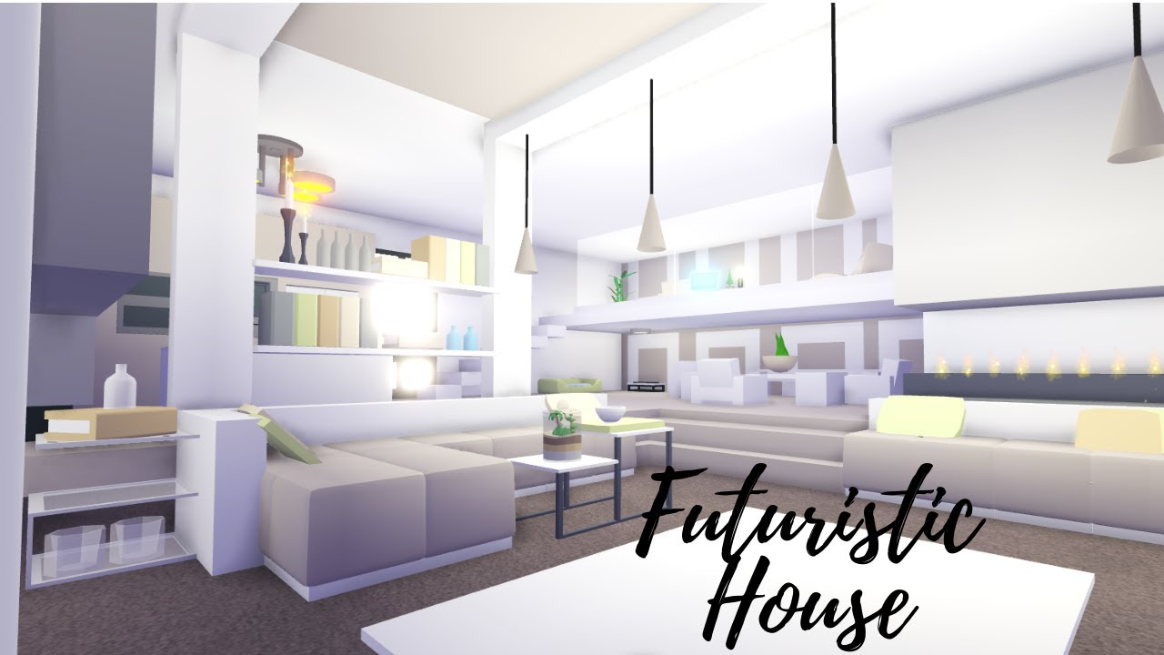 Idea For A Room Futurist House Adopt Me Speed Build Roblox Youtube