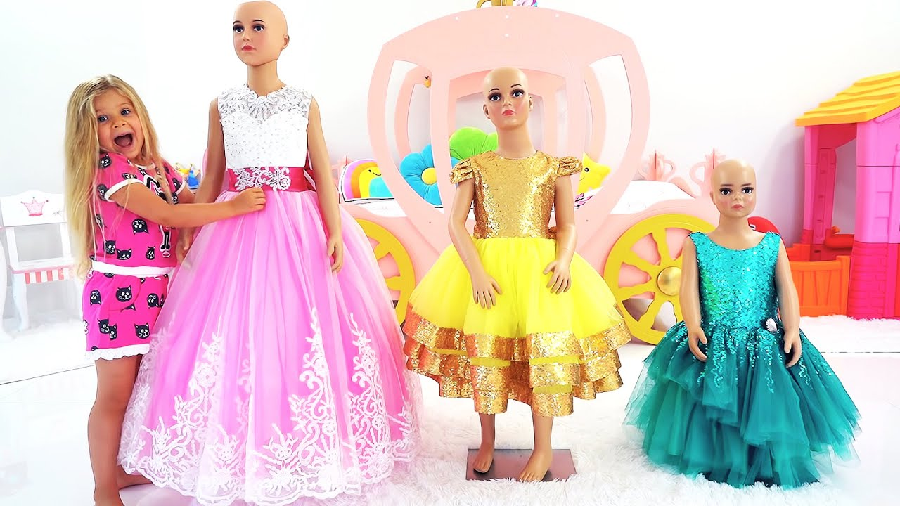 Diana goes to the Princess Ball and sews beautiful dresses