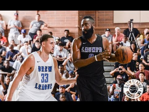 8190f9d2f James Harden VS Klay Thompson! Shooting Guards Battle It Out At Drew ...