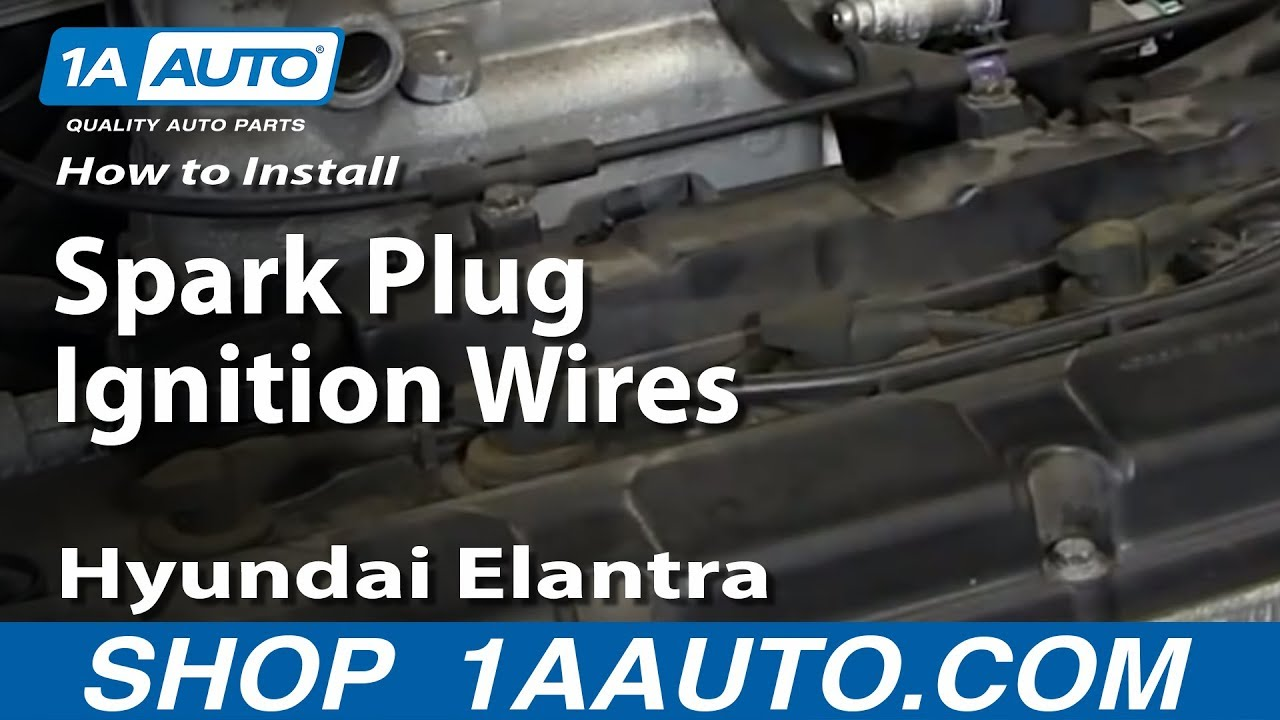 hight resolution of how to install replace spark plug ignition wires 2001 06 hyundai elantra 2 0l
