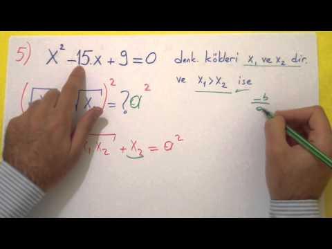 10. Sınıf 2. Dönem 1. Yazılı Soruları Şenol Hoca Matematik