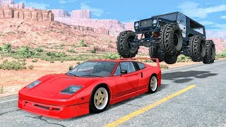 Crazy Police Chases #15 - BeamNG Drive Crashes