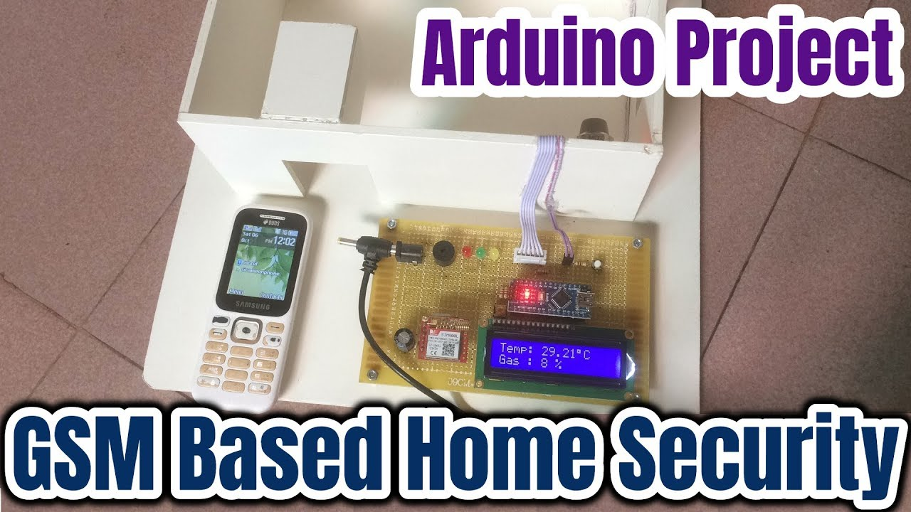Gsm Sim800l Based Home Security System Using Arduino And Pir Sensor