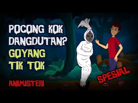 Animisteri Spesial - Pocong Dangdutan Goyang Tik Tok - Kartun Lucu Horor, Kartun Hantu