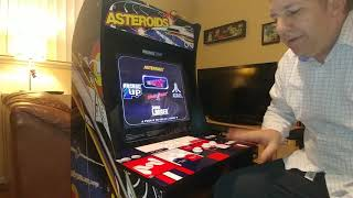 Arcade 1up Asteroids Tempest Demonstration With Spinner Control Adjustment