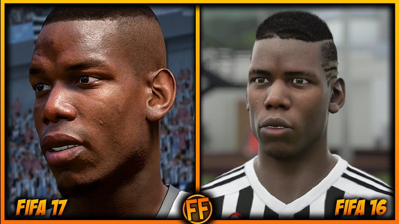 FIFA 17 Vs 16 Juventus Player Faces