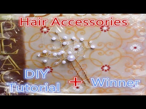 DIY Tutorial – Chinese Hair Accessories Sprinkling Shine Hair Stick Hair Pins 闪闪发亮小发饰 + Winner