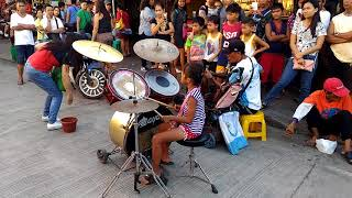 Pusong Bato: Malupit na drums by a young girl!