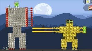 Bad Piggies - THE BATTLE GOLDEN ROBOT PIG SHOOTING GIANT ROBOT KING PIG!