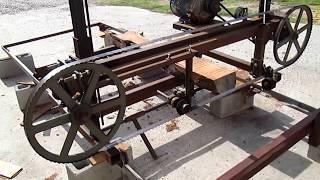 Home made Sawmill Blade Adjustment set up video