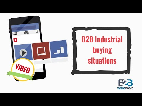 B2B Industrial buying situations