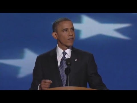 President Barack Obama at the 2012 Democratic National Convention