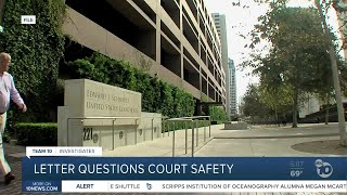 Letter cites concerns about in-person federal court proceedings