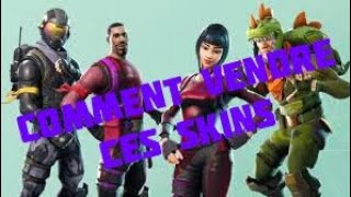 HOW TO SELL THESE SKINS ON FORTNITE BATTLE ROYALE
