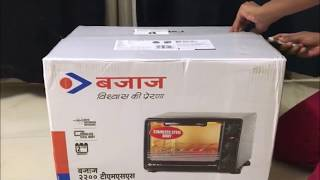Bajaj 2200 TMSS Oven Toaster Grill - 22 Litre - Unboxing