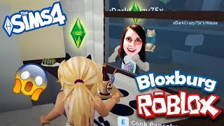 Sims in Roblox! Harassing my neighbors in Bloxburg 😂