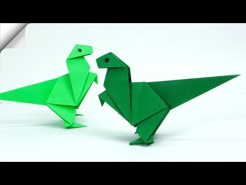 Crafts for kids How to make dinosaur Paper dinosaur