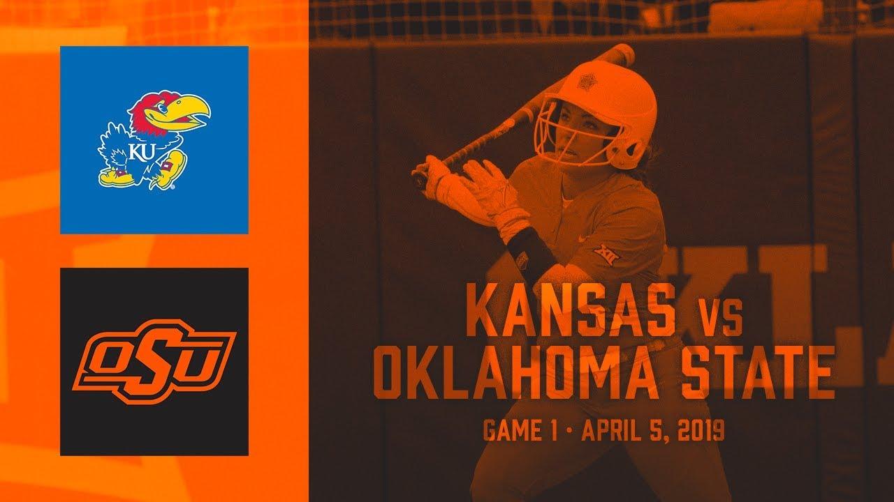 9f171490af5 Oklahoma State Cowgirl Softball vs. Kansas - Doubleheader - YouTube