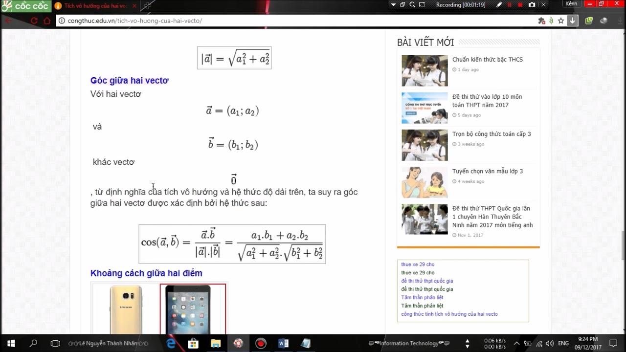 Hướng dẫn viết các công thức toán học trên word 2016