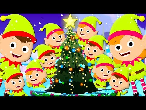 Ten Little Elves  Christmas Carol  Xmas Songs  Learn Numbers  Counting Song