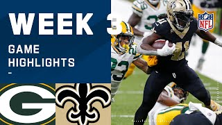 Packers vs. Saints Week 3 Highlights | NFL 2020